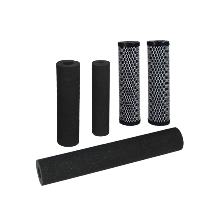 Universal activated carbon block water filter cartridge for mineral water treatment plant