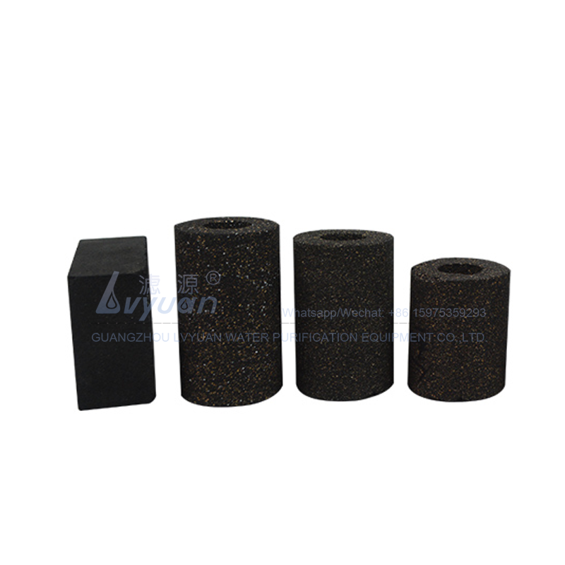 Round & square carbon media 0.5 1 micron charcoal carbon filter for household water filter system