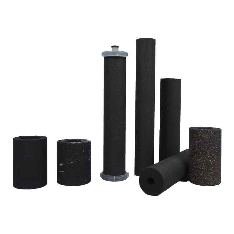 High coconut materials sintering 5 microns filter 10/20/30/40 inch carbon tube filter for water purifier cartridge filter parts