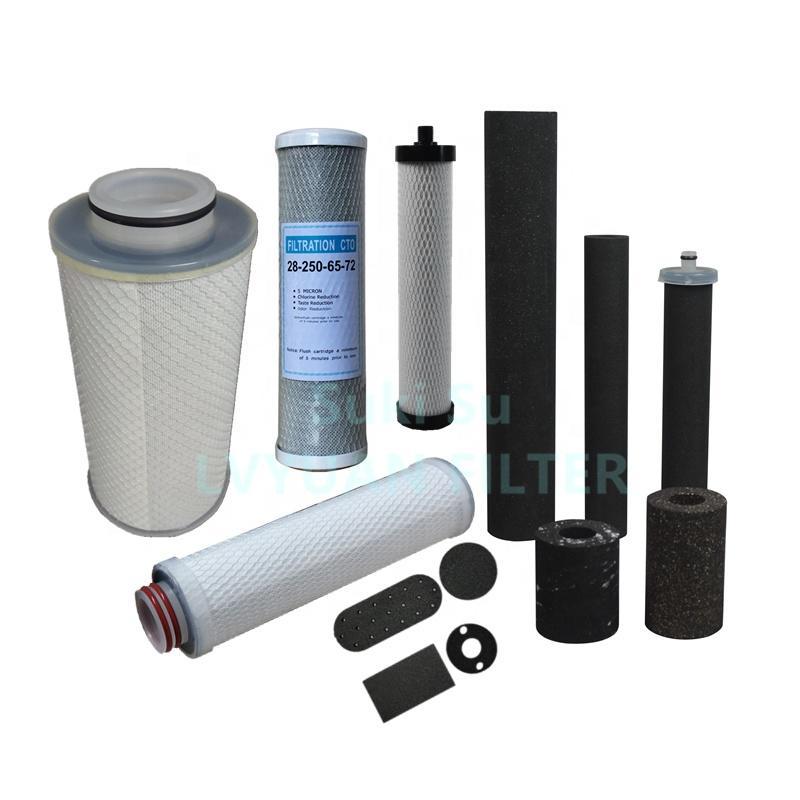 Fabrica 5 7 8 10 20 30'' inch PP sediment CTO cartucho de filtro de carbon activado for agua filtros de carbono water filter
