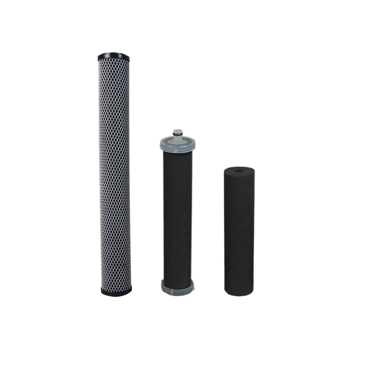 Refillable activated carbon filter cartridge for home water filter replacement