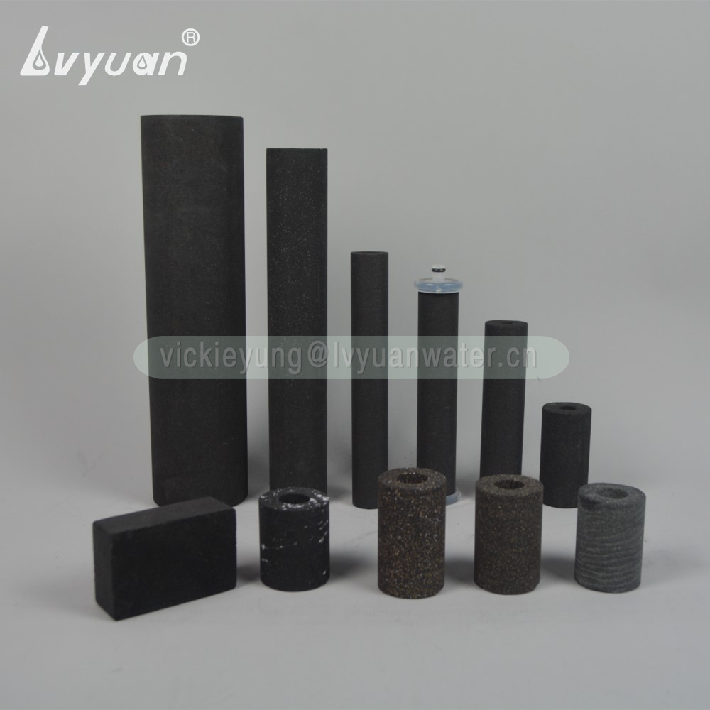 Post activated carbon material 5/8/10/20 inch sintering carbon filter cartridge for household sediment water filtration