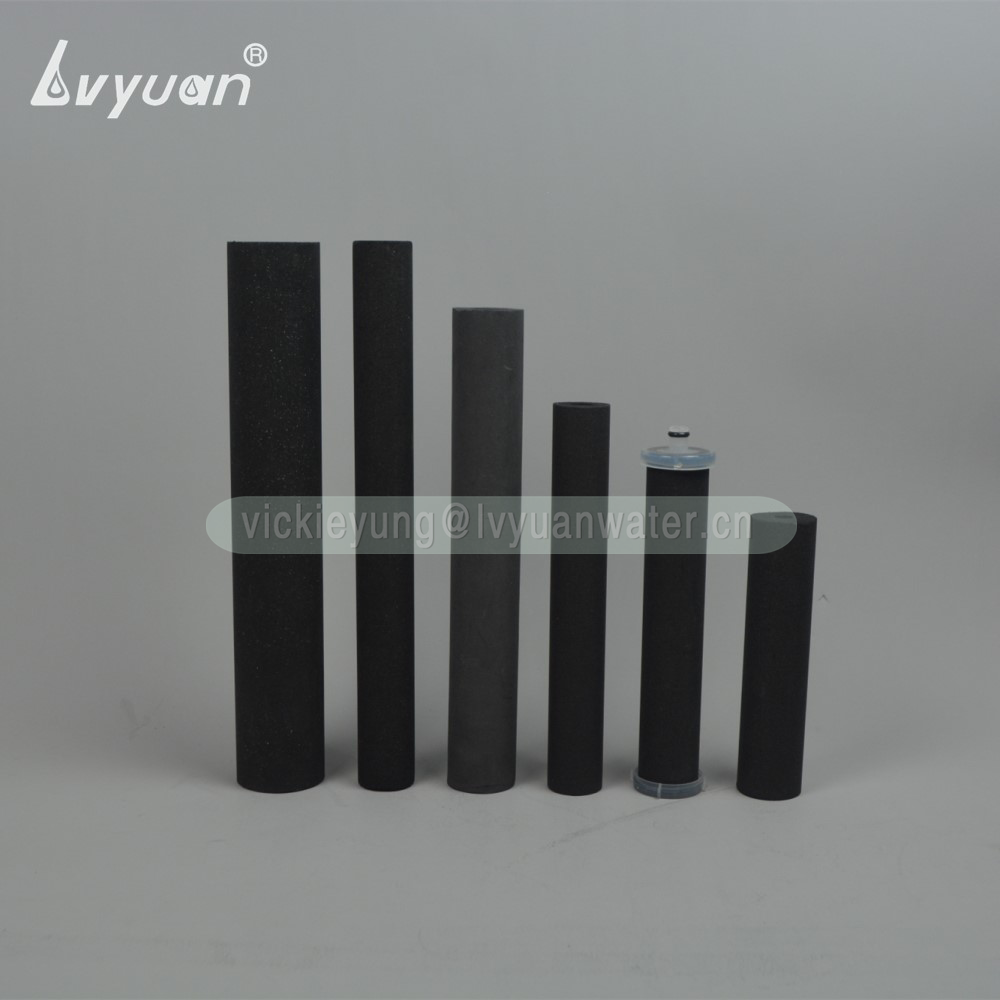Food grade activated charcoal carbon sintered carbon block filter cartridge for water filter replacement