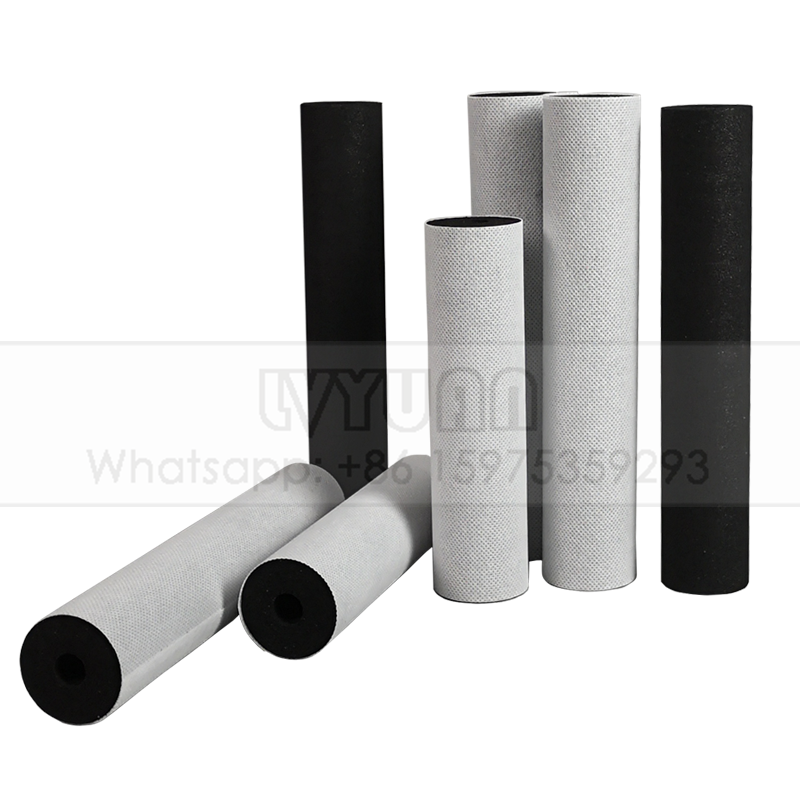 Slim & jumbo 4.5 inch sintered carbon block water filter candle/carbon water filter cartridge