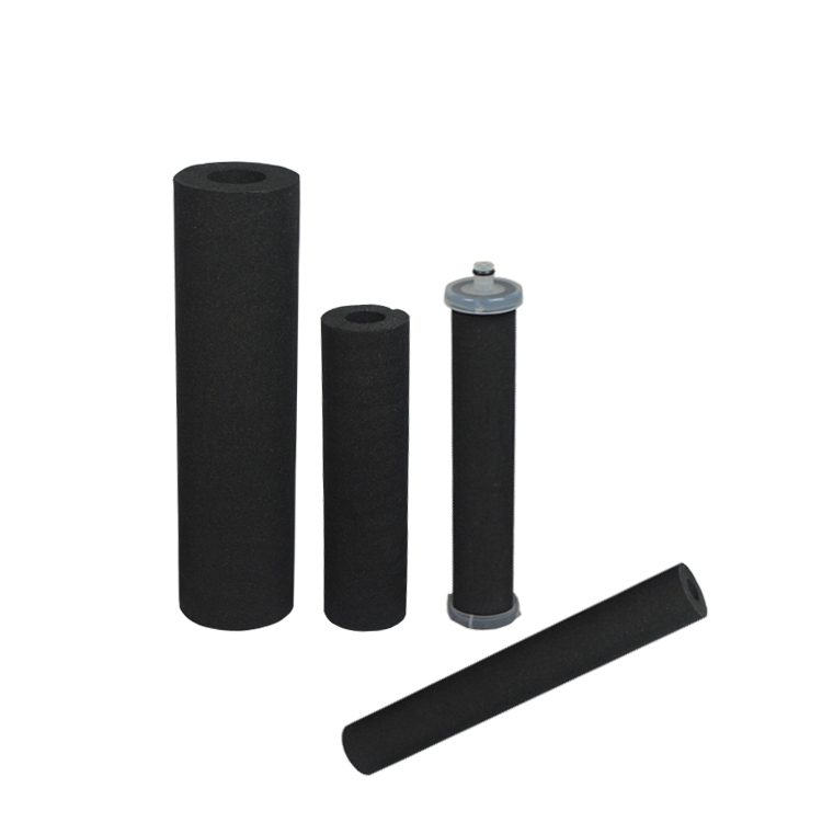 Customization sintered carbon filter for condensate water