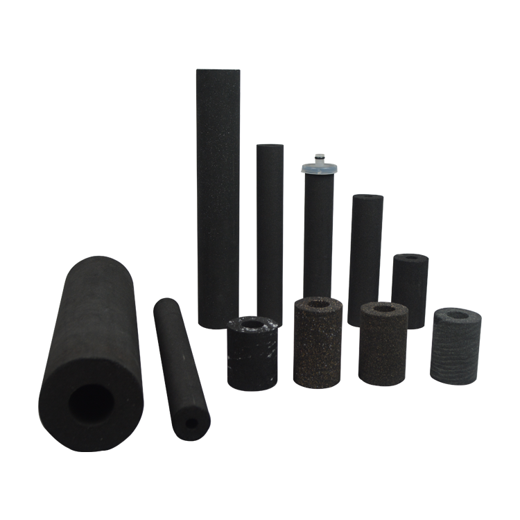 Cylinder tube design 10 microns fined coconut shell carbon sinter carbon block filter for pure drinking water filter