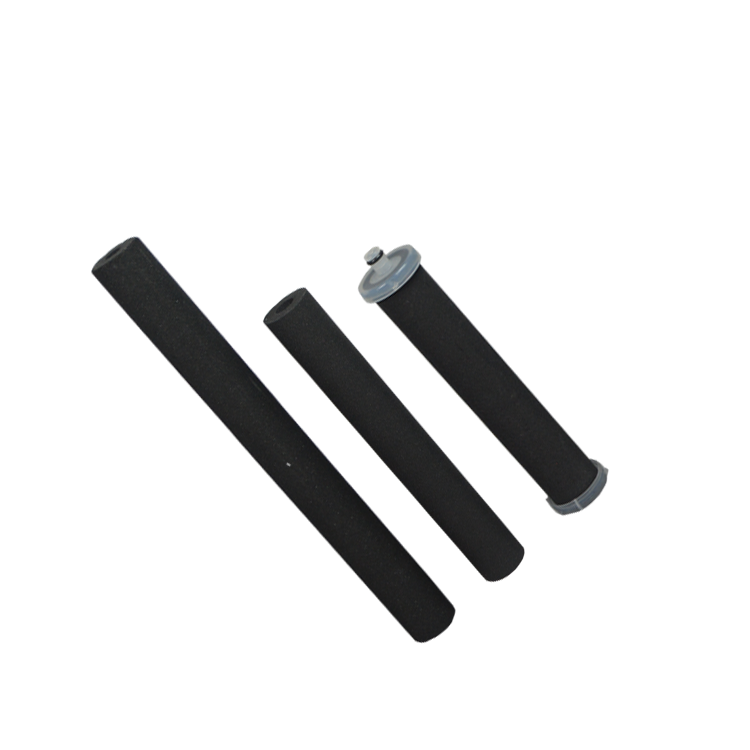 Sintering cartridge filter candle type 5 microns coconut shell cto carbon block filter for domestic water filter