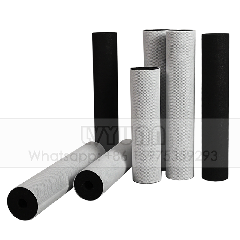 High density sintering/sintered coconut shell activated filter charcoal carbon block filter with paper cloth