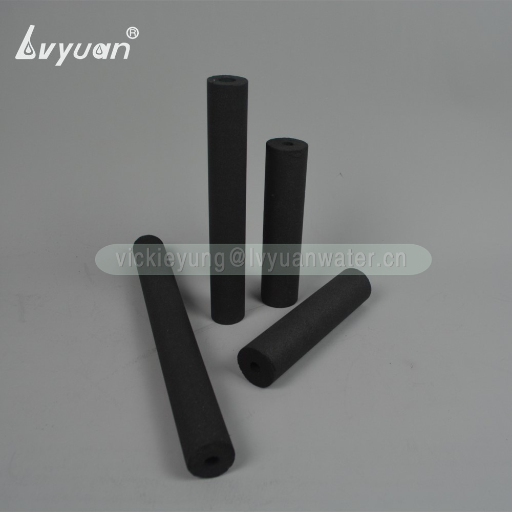 Different shaped size sintered 10 microns cto active carbon filter cartridge for home fridge filter housing replacement