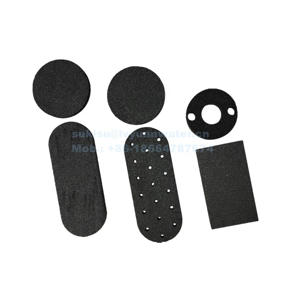 Custom-made Round Activated carbon fiber disc for air water filter discs plates