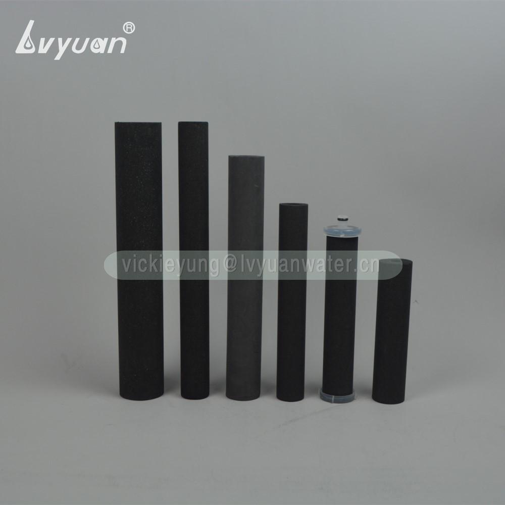 Multi Porous Square Cube Design Activated Block Carbon Honeycomb Sintered Carbon Filter Cartridge for 10 20 Microns Air/Liquid