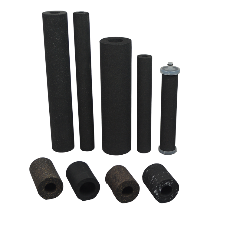 Guangzhou factory supply water treatment filter cto compressed activated carbon filter cartridge for water filter spare parts