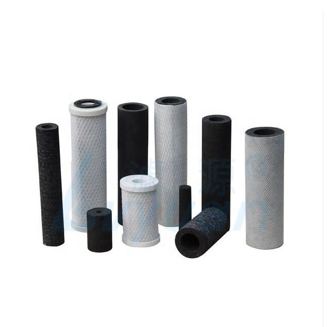 Wholesale sinter candle filter OEM microns sintered carbon block water filter for drinking water bottle