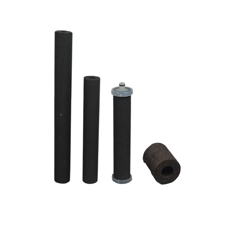 High adsorption rate plastic connector activated carbon 5 micron cto carbon block filter cartridge with carbon fiber filter