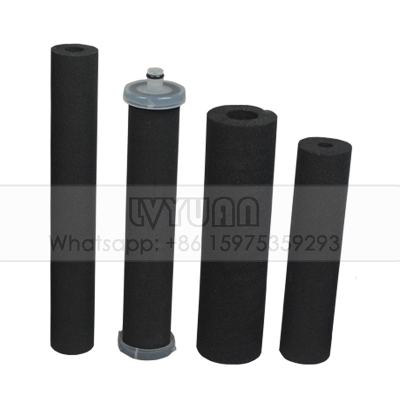 Sintered carbon filter factory T33-10 active carbon cartridge filter for water dispenser filter element
