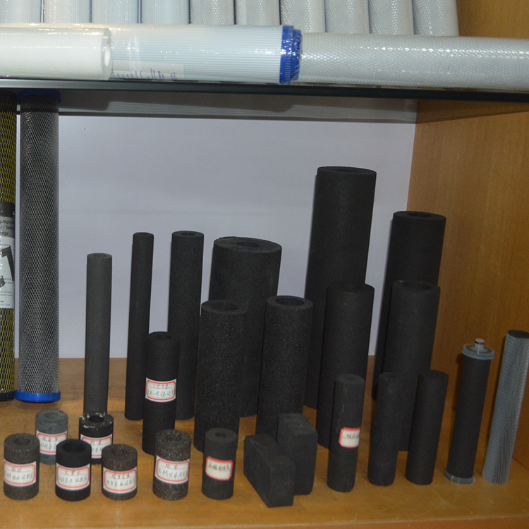 Customized size cto activated carbon water filter cartridge sintered improve PH