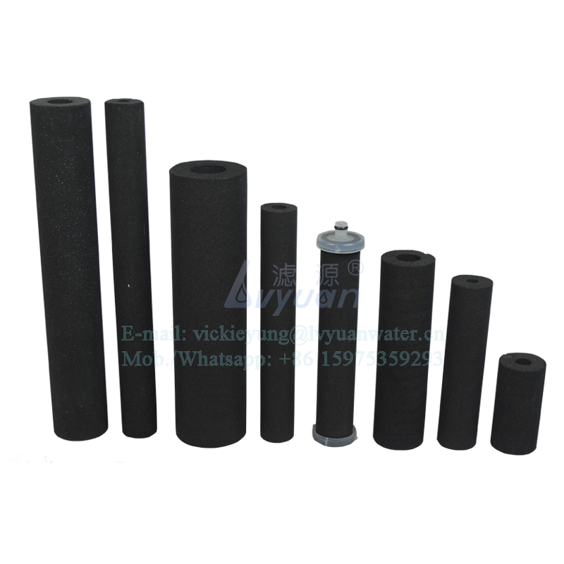 Activated coconut filter OEM design 10 micron activated carbon filter tube for household RO UF water filter