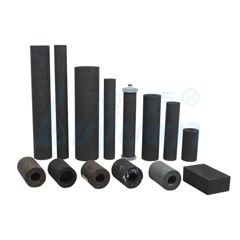 Customized specification Powder Sinter coconut water Carbon block Filter Cartridge
