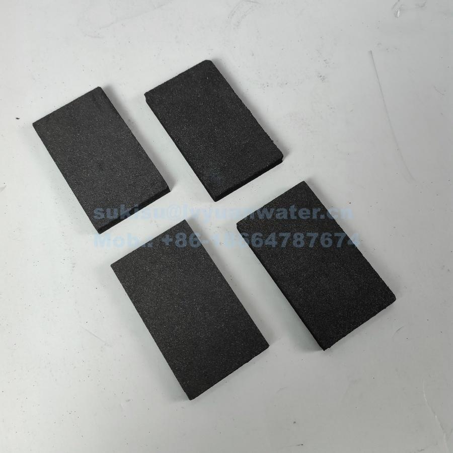 Factory supply Sintered Porous Activated Active Carbon Filter disc for shower water air filtration
