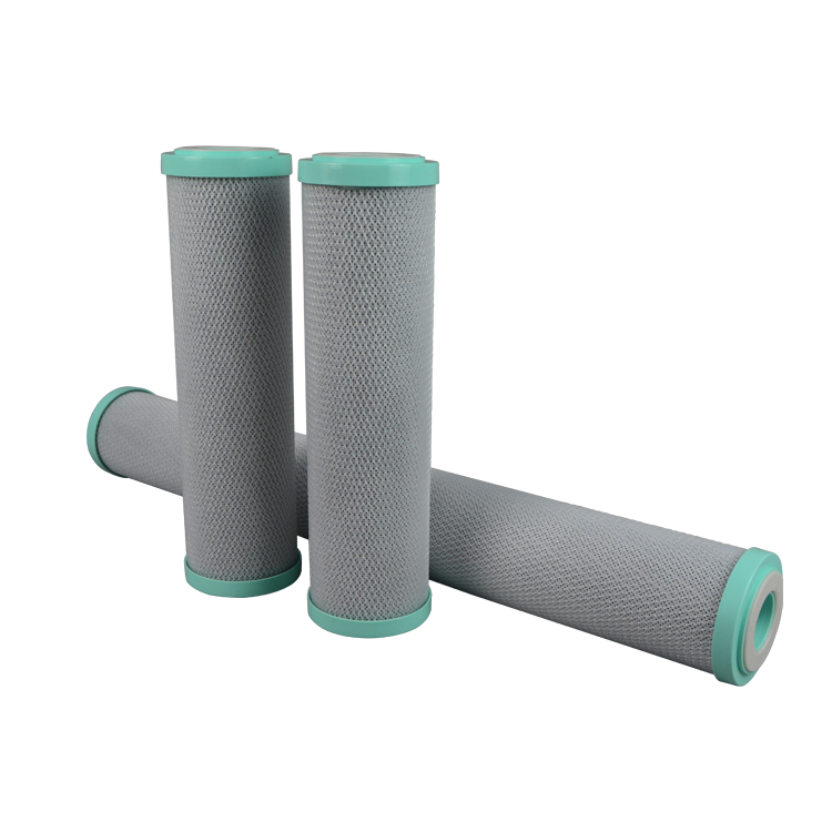 Refillable carbon block water filter cartridge for shower/toilet/kitchen
