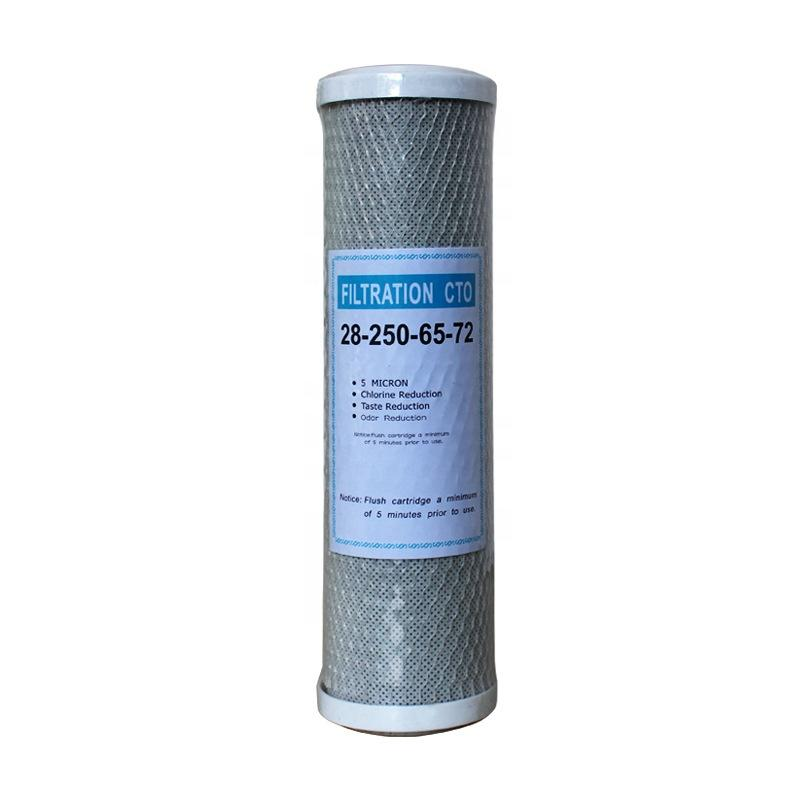 Guangzhou Factory 5 10 20 30 inch Activated carbon block CTO filter water Cartridge for pre filtration