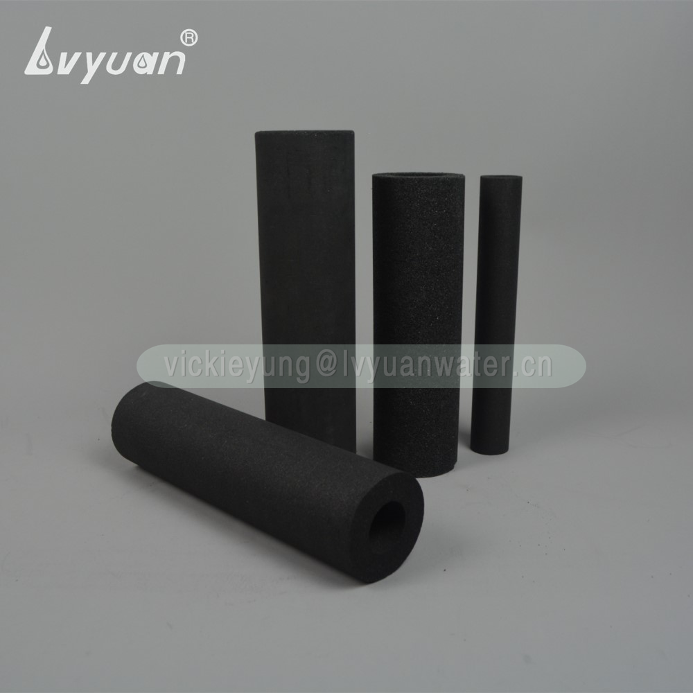 Cylinder & brick shaped 1/5/10/25 micron activated carbon water filter for drinking water dispenser filter system