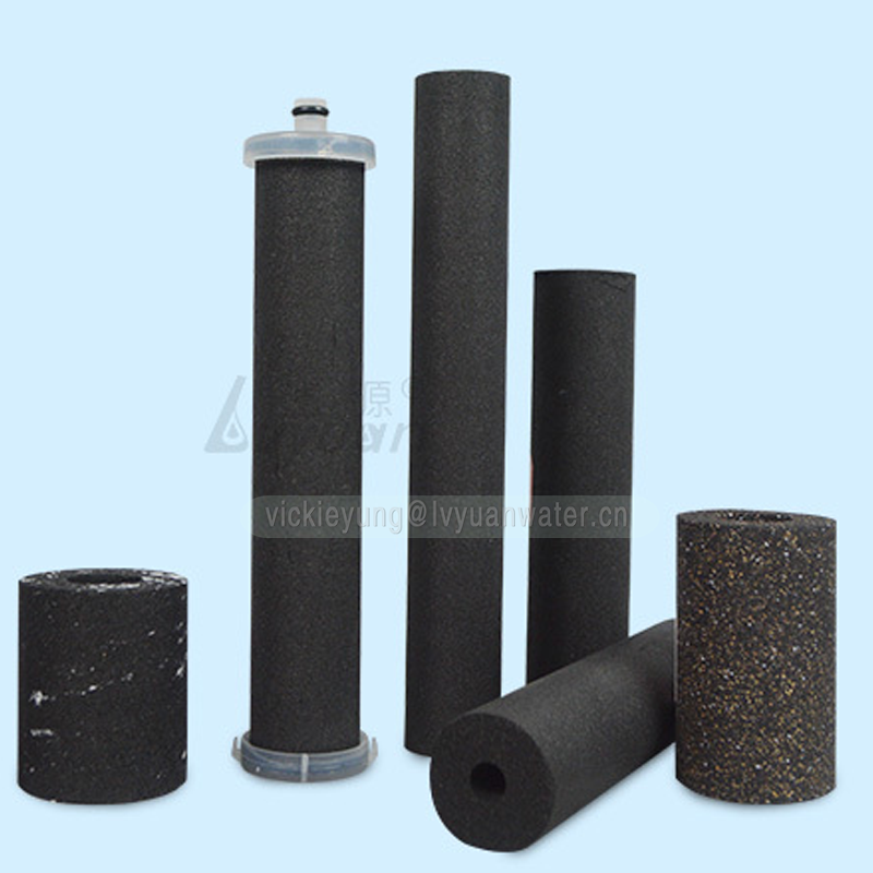 Customized size block shape 10 25 microns carbon filter cartridge for home water filter replacement