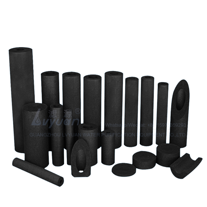 Optional specification sizes carbon block cartridge filter with fine coconut shell activated carbon