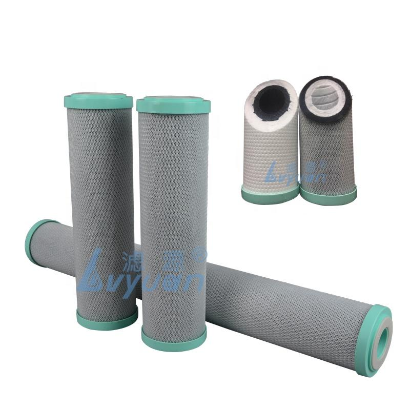 2 in 1 Composite Activated Carbon block CTO cartridge plus PP meltblown cartridges for pre water filter