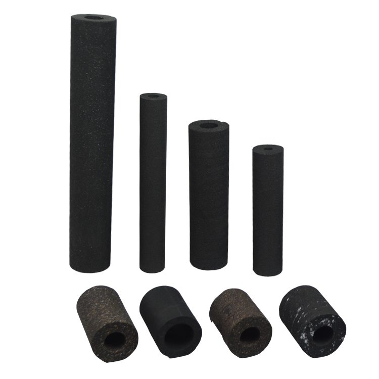 Replaceable round activated carbon filter for drinking water