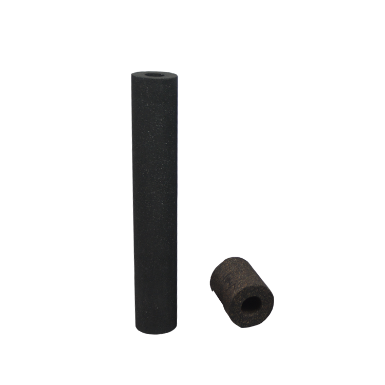 Food grade block filter rod type 5 10 20 inch sintered carbon Filter for removing chlorine & odor absorbed water filter