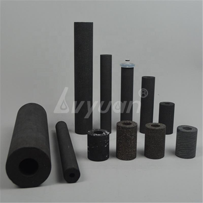 OEM Size Cylindrical Sinter Activated Carbon Block Filter Cartridge for Water Purifier