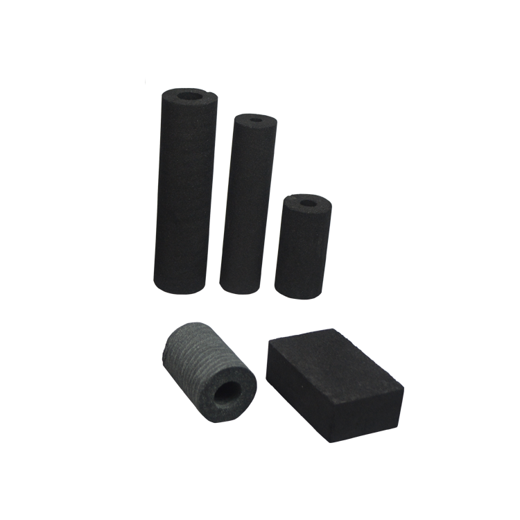 High quality 5 microns coconut shell carbon block charcoal sintered carbon water cartridge in guangzhou manufacturer