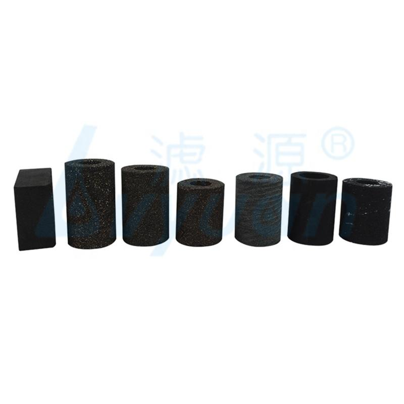 4 inch Sintered 20 Micron activated carbon Water Filter with High Iodine for swimming pool filtration removal color