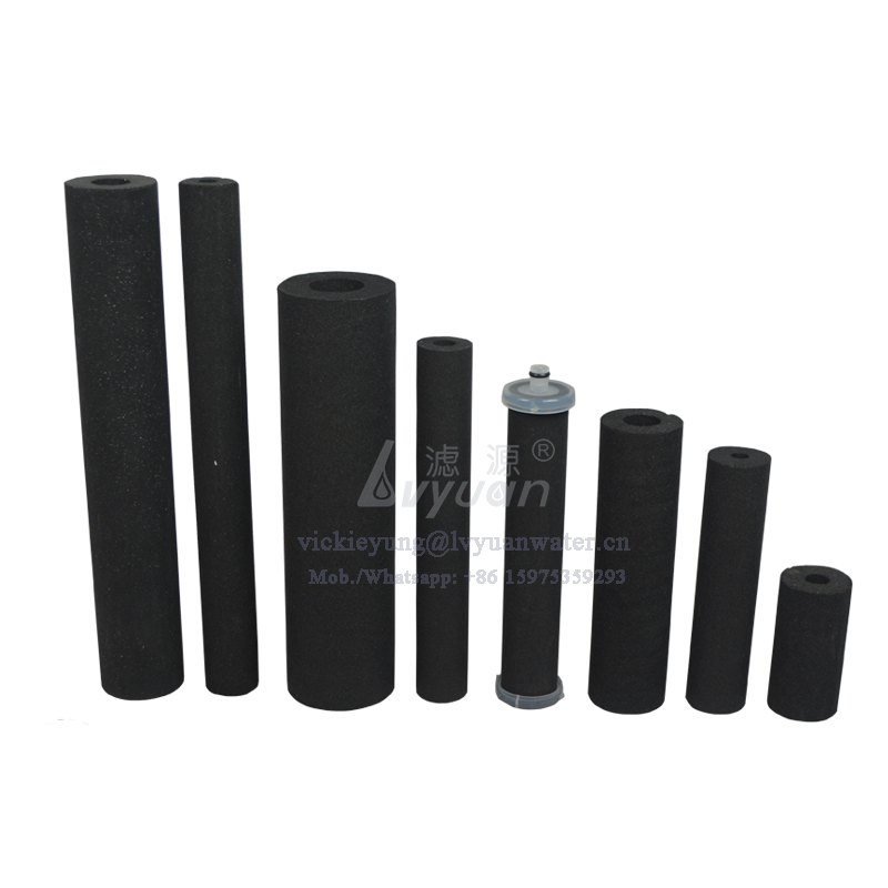 Widely used OEM sintered/setering 25 microns carbon filter for pet animal drinking water filter bottle