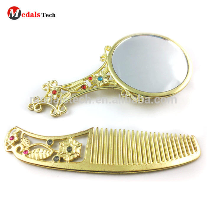 Promotional Gift Classical Small Pocket Handbag Cosmetic Mirrors With Comb