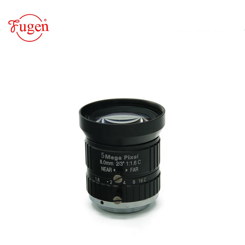 FG-FA0816-5M hot selling 5 mega pixel F8.0mm C mount focal manual machine vision for camera lens