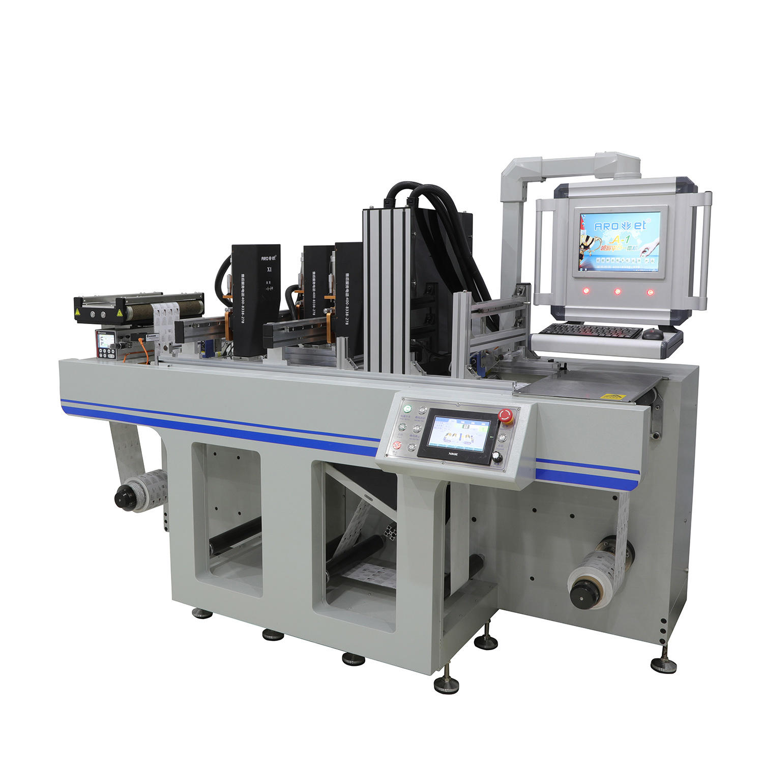 UV Dod Single-Pass Label Web Inkjet Printer with Invisiable Ink