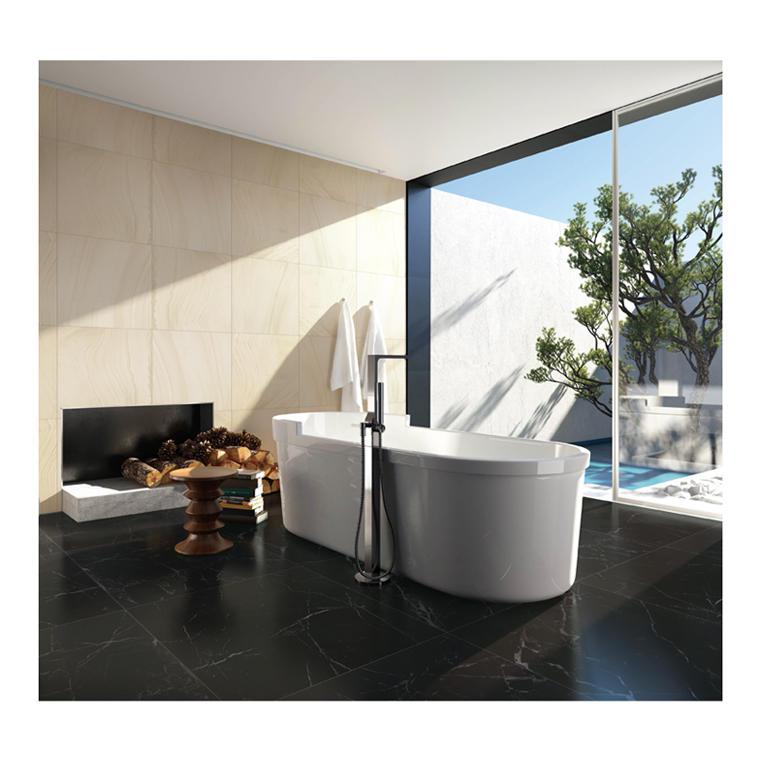 Standard size porcelanato black ceramic bathroom tiles