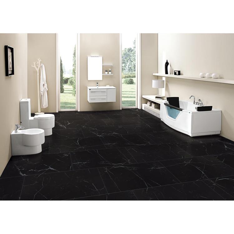 Onyx black gold ceramic floor tile