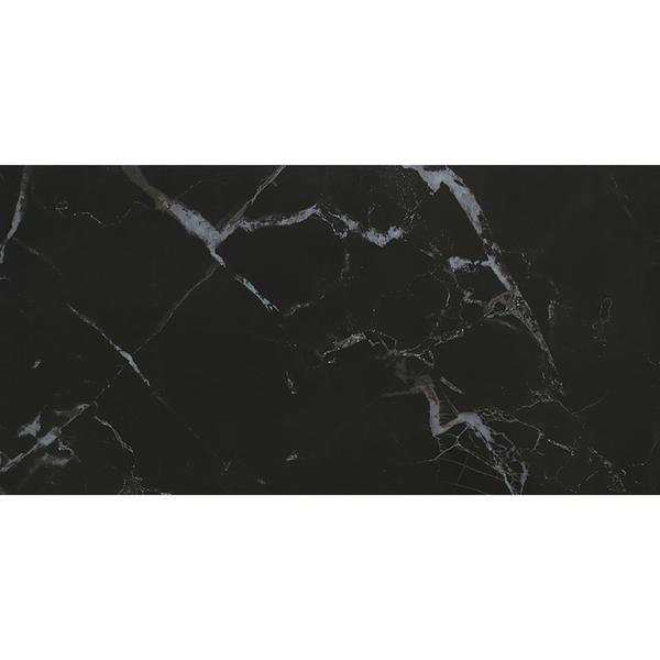 Black marble white veins porcelain tile