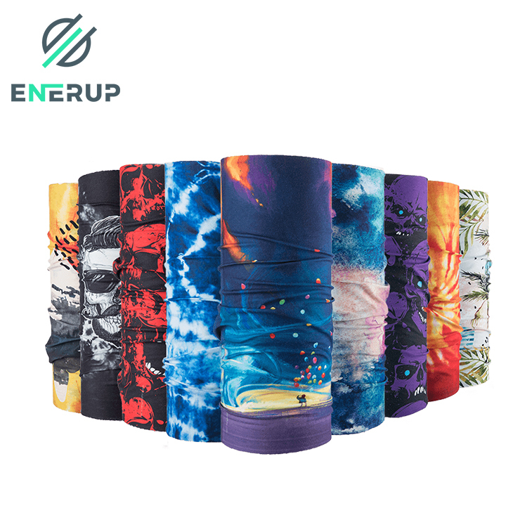 Enerup Outdoor Cycling Fishing Cooling For Anti-Bacteria Custom UV Neck Gaiter Mask Bandana With Filter Mix Lots Face Shield