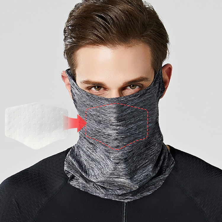 Enerup Army Kid Tube Multifunctional White Polyester Face Protection Shield Scarf Bandanas Neck Gaiter Carbon Mask Filter Shield