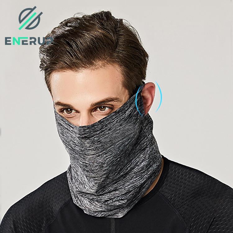 Enerup Wholesale Custom Sports Breathable Upf Sun Uv Protection Bandana Face Scarf Neck Gaiter Neck Tube With Filter