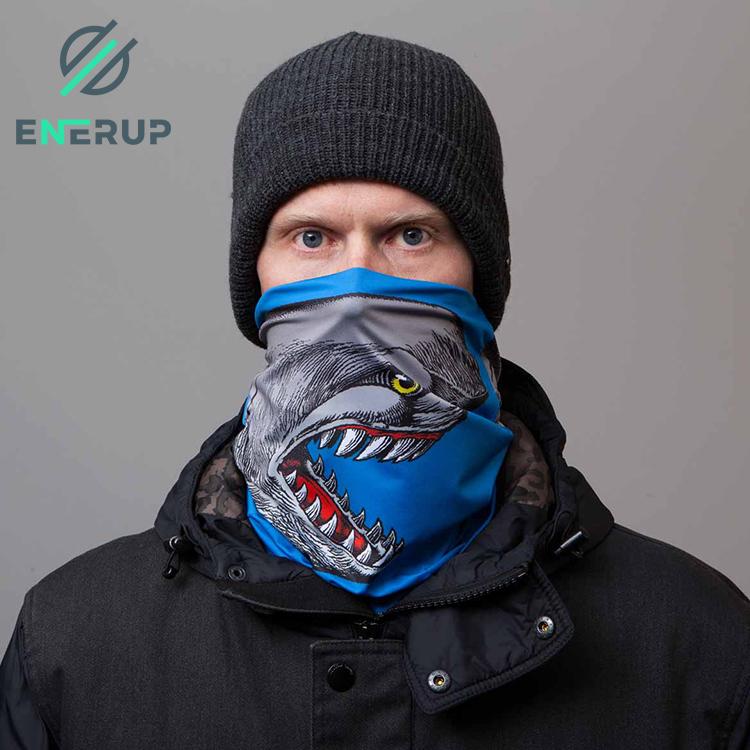 Enerup Sport Lightweight Camo Cotton Polyester Spandex Cycling Neck Gaiter Scarf Fleece Adjustable Face Mask Shield