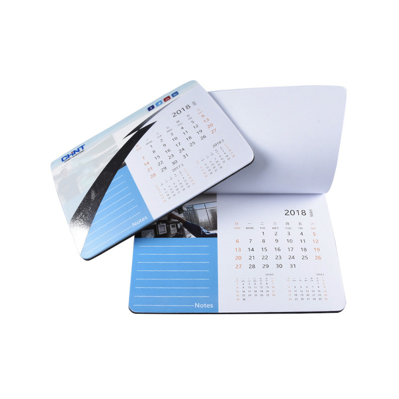 Custom Rubber Bottom Printing Calendar Computer Mouse Pad for Company Promotional