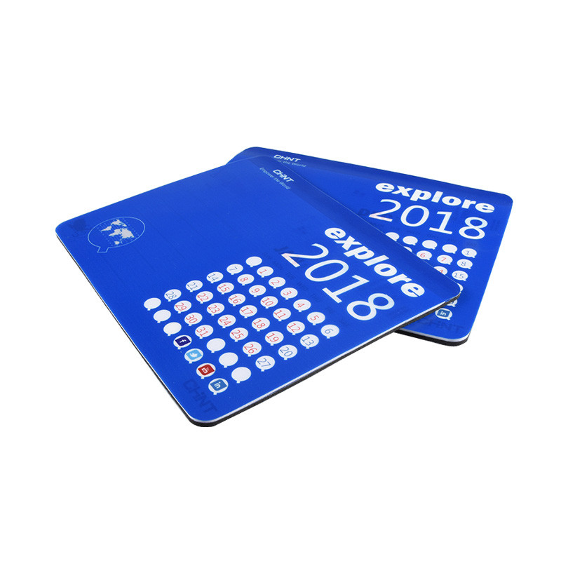 Custom Hot Sale WaterproofRubber Mouse Pad Material With Calendar For Office