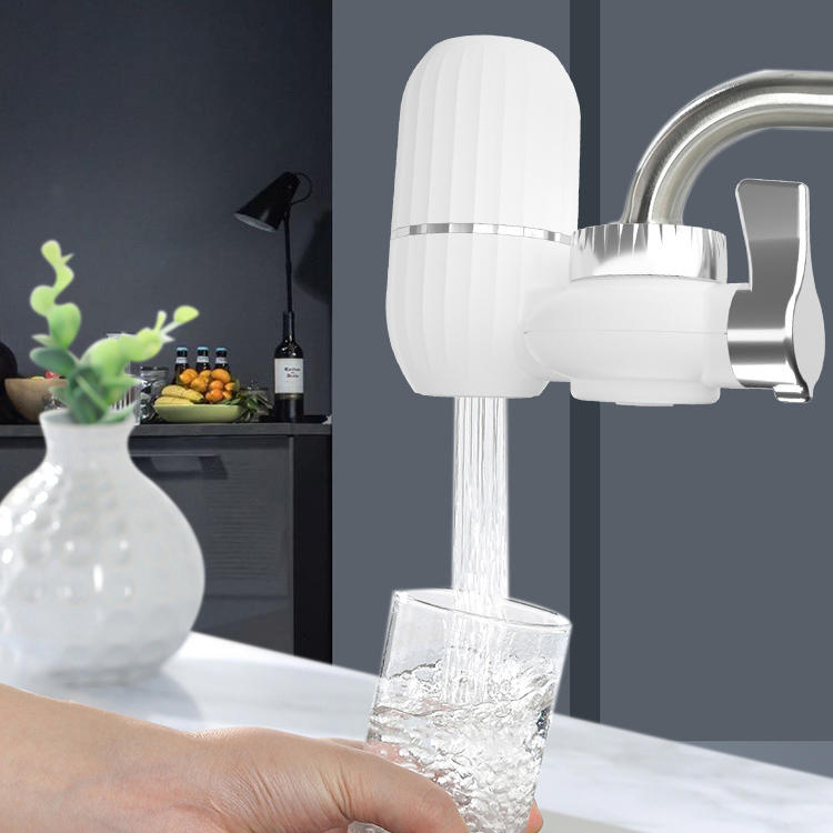 Faucet Tap Water Softener Filter With Ceramic Filter For Household Kitchen Drinking Water Purifier