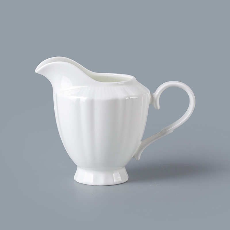 cheap super white porcelain milk jug modern strengthen milk jug use in cafe restaurant hotel