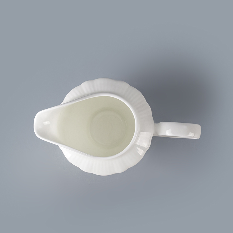 cheap super white porcelain milk jug modern strengthen milk jug use in cafe restaurant hotel